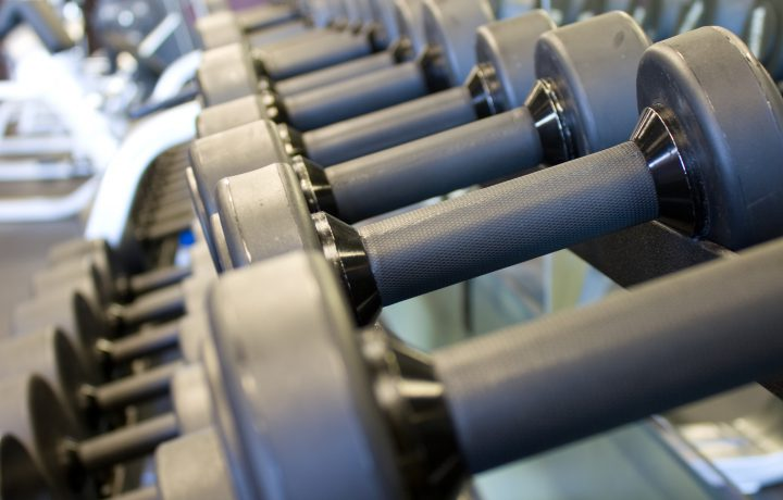 Rack of Weights at a Gym